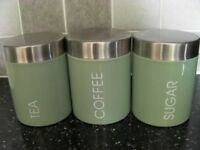 Tea, Coffee, Sugar Canister Set