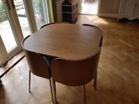IKEA table and four chairs