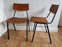 Metalliform Vintage School Chairs