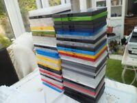 66 blank dvd cases, blu ray ps4 ps3 xbox empty multi coloured lot bulk set