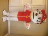 UK SELLER new adult look alike Marshal Mascot Costume fancy dress Dog Dress