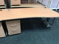 Office Desks 1800mm plus Pedestal Drawers