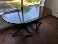 Dining table can be extended
