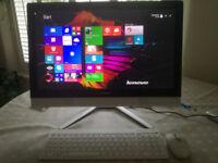 "Lenovo C40 21.5"" Touchscreen All in One Desktop Windows 10 8gb RAM 1tb HDD"