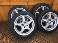 "15"" 4x100 performance alloy wheels taken of Mazda MX5"
