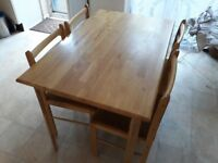 Dinning chairs and Table set
