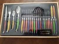 Brand new 24 piece Laguiole cutlery set from France
