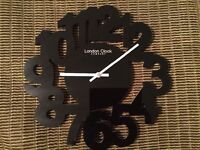 Black London Clock Company Wall Clock