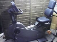 Technogym Recline Cycle fitness trainer. Heavy duty Trainer, Professional Cycle trainer.