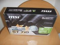 MSI GEFORCE GT710 GRAPHICS CARD