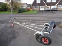 Sailing dinghy boat combi-trailer trailer and launch trolley