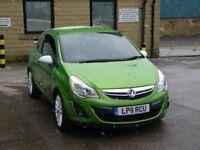 2011 Vauxhall Corsa 1.2 i 16v SXi Petrol 3door Green 2XKEYS   WHITE LIMITED EDITION WHEELS HPI CLEAR