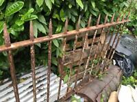 Antique Cast iron gate 200 cm long 104 cm h Possible Delivery