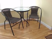 Bistro table and chairs as new