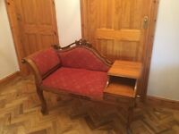 Phone table Antique Style Chaise Longue