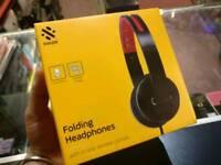 Swipe Folding Headphones In-line Microphone Universal MP3 PS4 Xbox One