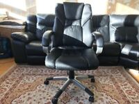 Executive Black Leather Computer Chair