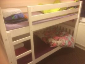 White bunk bed frame large good condition