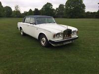 Classic Wedding Car Hire/ Private Car Hire/ ROLLS ROYCE Silver Shadow II