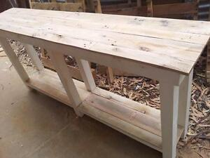 Custom kitchen pallet wood island bench or hall table