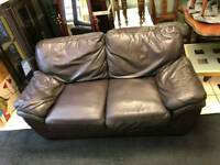 brown leather 2 seater sofa ( MINT MINT CONDITION)