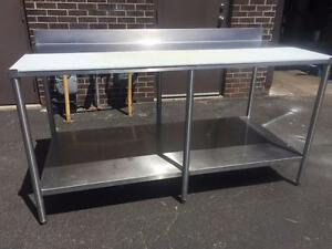 Commercial Heavy Duty Stainless Steel Table with Poly Cutting Board