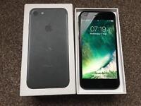 Apple Iphone 7 128gb in matt black locked to EE network
