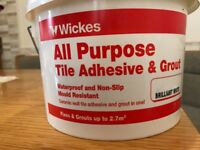 Wickes Tile and Grout adhesive.