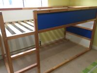 IKEA KURA reversible bed with blue tent
