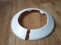 110mm Pipe collar, white (4 inches)
