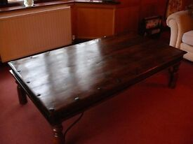 Sheesham coffee table by William Sheppee