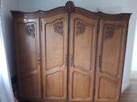 French oak armoire wardrobe