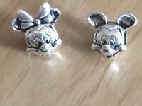 Minnie & Micky pandora style charms