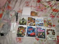 WII NTSC CONSOLE BUNDLE 9 GAMES.WII REMOTE