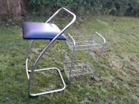 kitchen high chair and wheeled trolley