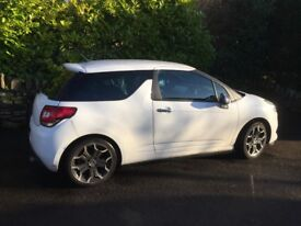 Newly MOT-ed Citroen DS3 1.6VTi - special edition - white with roof stripes