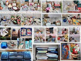 HUGE Car Boot Job Lot/Bundle TV's, Ornaments, Kitchen Items, Suitcases, Bric-a-Brac, Bedding etc.