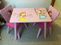 Child's table and 2 chairs