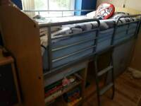 Kids chest drawers with wardrobe and cabin bed
