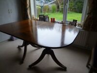 Extendable dining room table - mahogany - extends to seat 8 - 10 people. Chairs available also