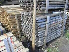 Timber round fence post 50mm-75mmx1.65m