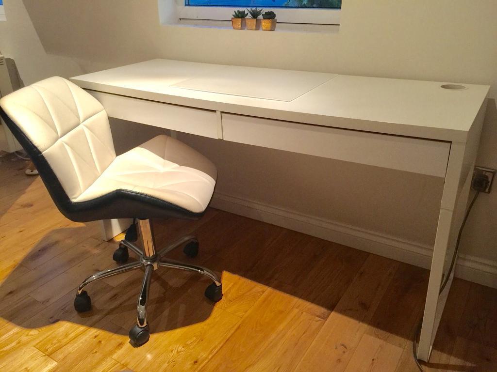 Ikea Micke White Desk Chair
