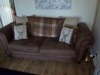 2 seater brown sofa - good condition.