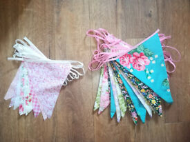 Two Sets of Vintage Style Bunting