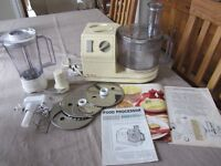 Moulinex Masterchef 65 Food Processor, complete with all attachments, instructions etc.