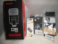 neewer tt560 speedlite flash+softbox diffuser+camera remote+12colour flash diff kit+lens cap holder