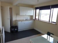 Furnished light bright studio flat near shops and buses. Wi-fi, council tax and most bills included