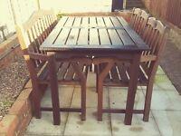 Quality teak garden furniture set