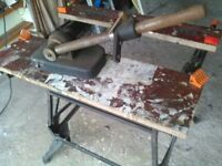 Heavy Drill and Router multiple angle stand without holder needs adapting to suit purpose.
