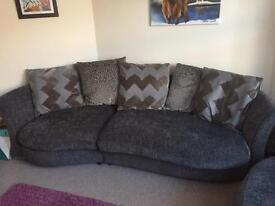 TWO LARGE DFS SOFAS